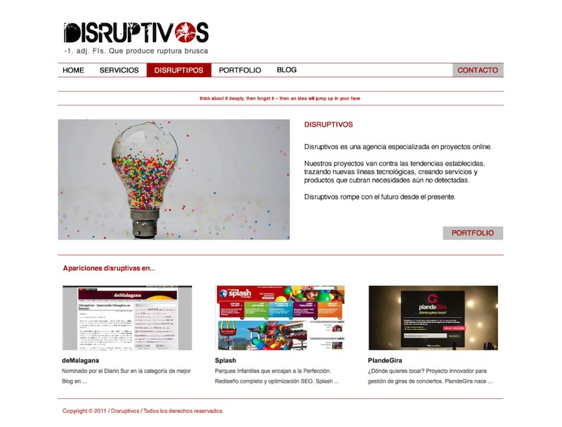 Disruptivos Homepage Draft