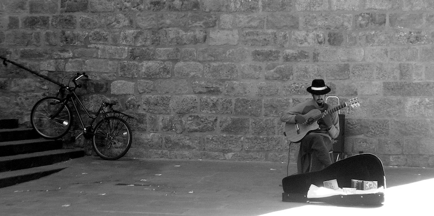 Spanish Guitar&Man&Bicycle – Music