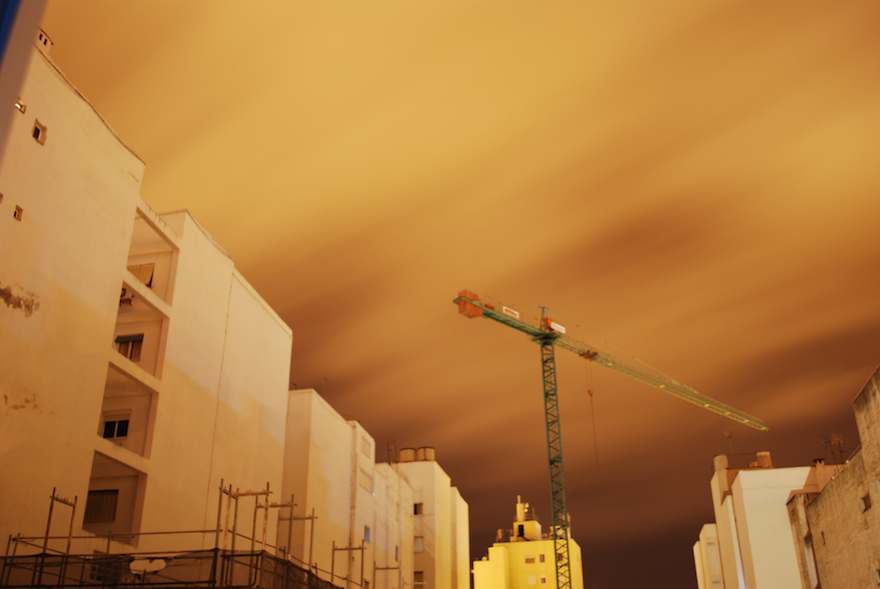 2009 - Yellow sky - Malaga, Spain
