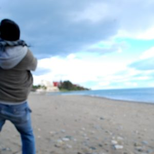 2009 - Boy throwing a stone - Estepona, Spain
