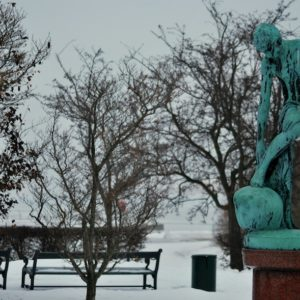 2010 - Green bronze statue - Copenhaguen, Denmark