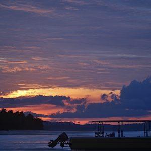 2010 - Sunset in Sematan - Sematan, Malaysia
