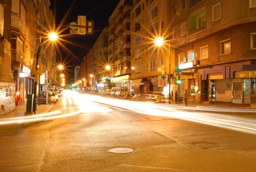 2009 - Armengual de la Mota at night - Malaga, Spain