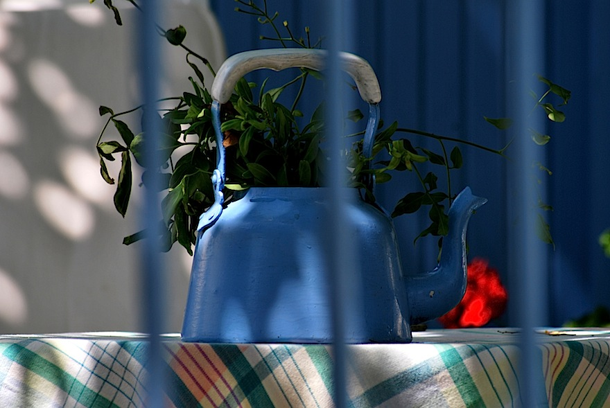 2011 - Blue teapot - Volax, Greece