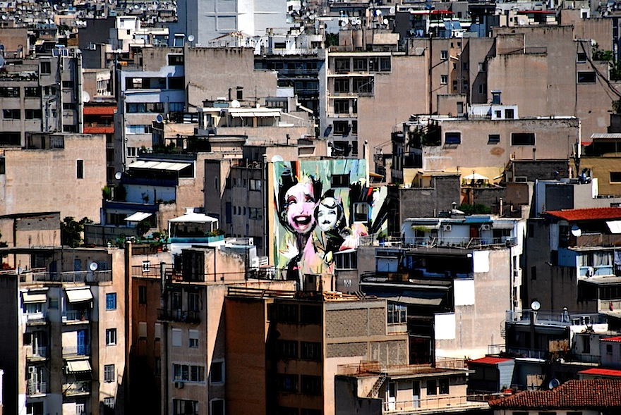 2011 - Graffiti skyline - Athens, Greece