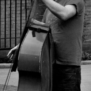 2011 - Man playing the double bass - London, England