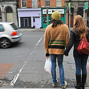 2012 - The pedestrian crossing couple - Dublin, Ireland