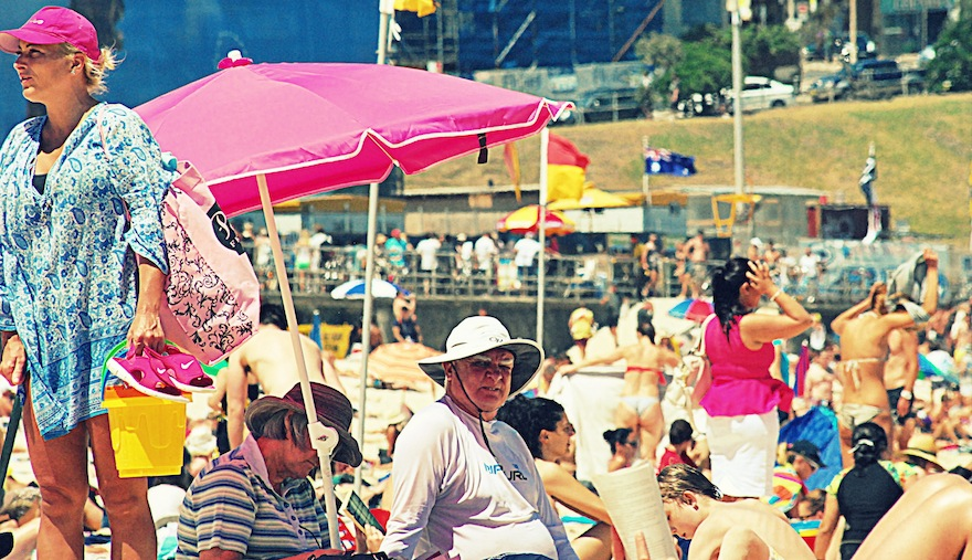 2013 - Bad face in Pink beach - Sydney, Australia