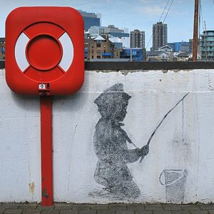 2013 - The boy with the fish in the other side - London, England