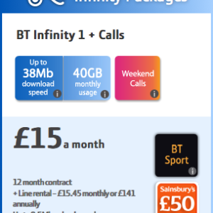 BT Mobile - Packages