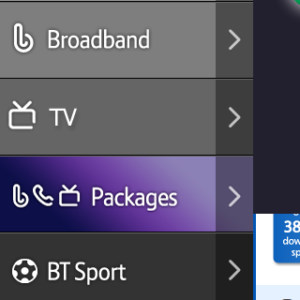 BT Mobile - Menu