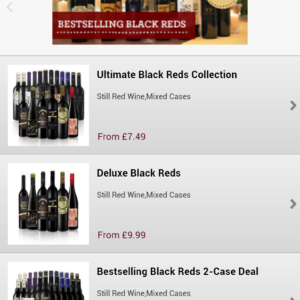 Android-iOs app List of wines