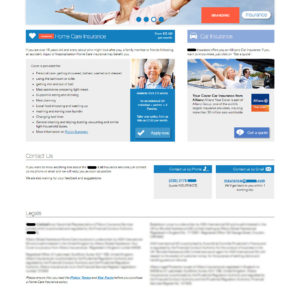 Company Y Insurance - New website