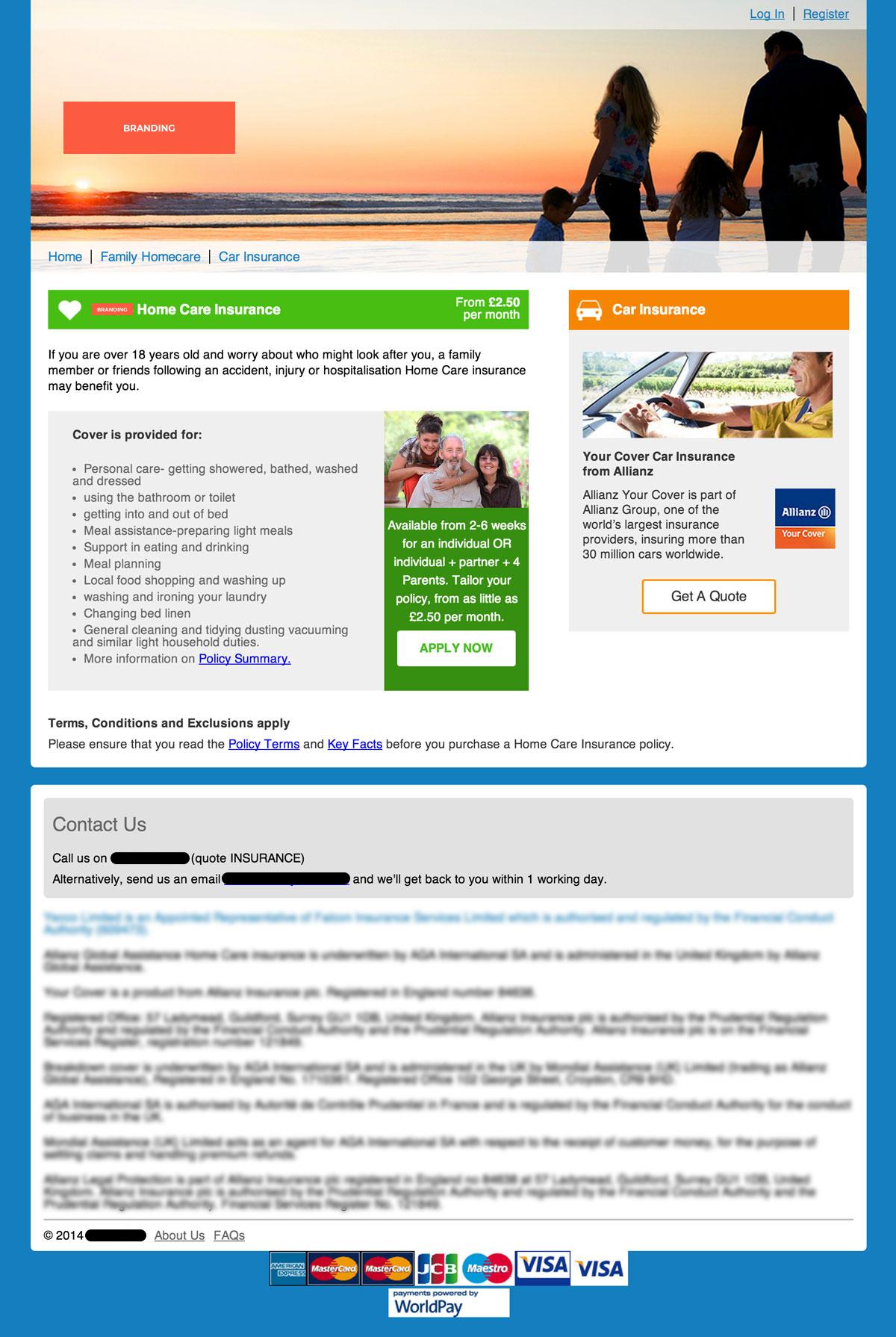 Company Y Insurance - Old web