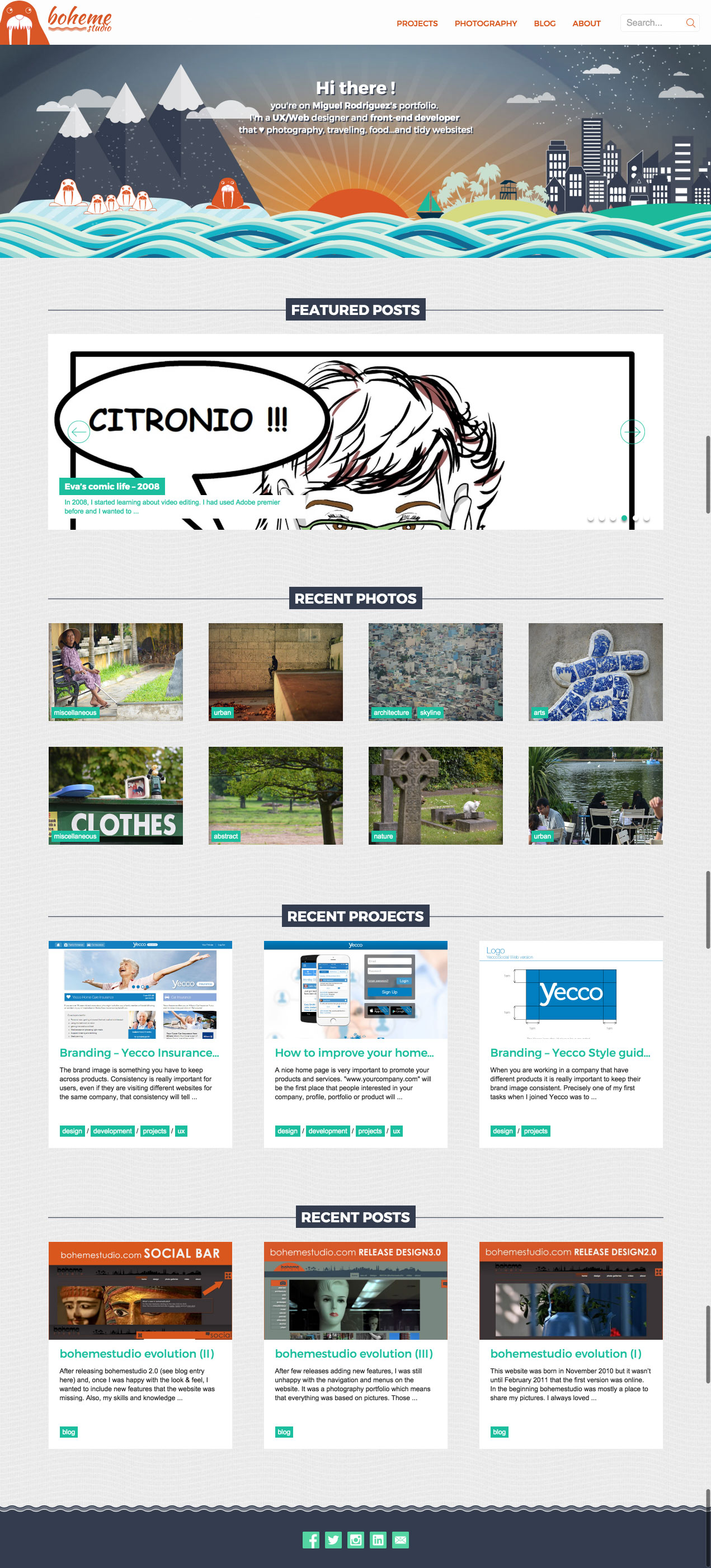 Bohemestudio 4.0 - Homepage