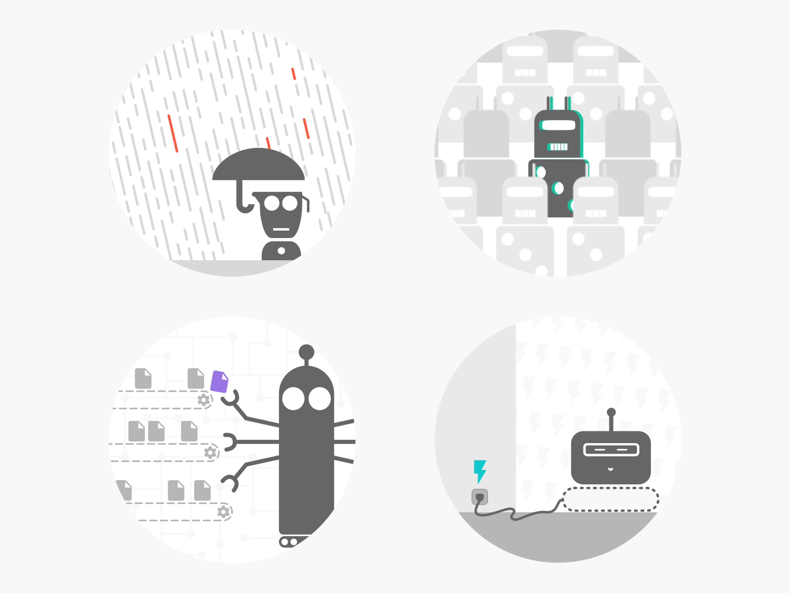Bots landing pages - Illustrations