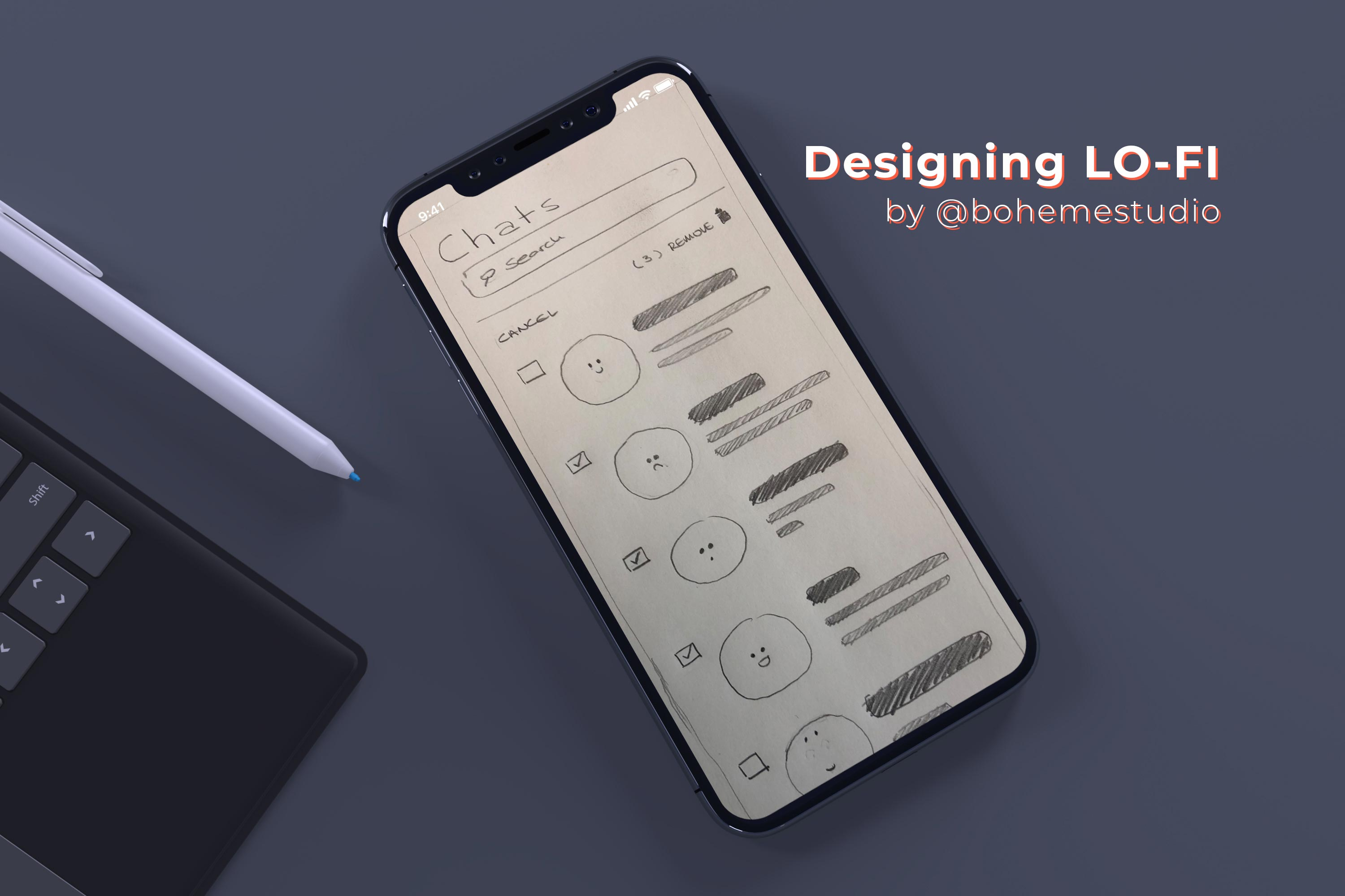 Designing Lo-fi (by bohemestudio) - Cover