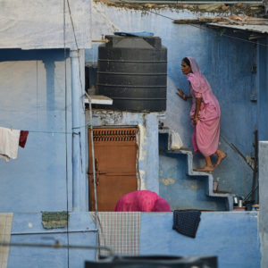 2018 - Climbing stairs - Udaipur, India