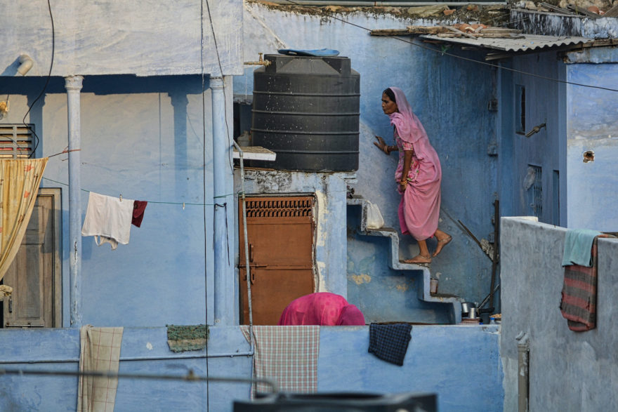 Climbing stairs – Udaipur, India